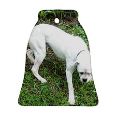 Boxer White Puppy Full Ornament (Bell)