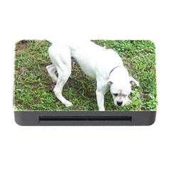 Boxer White Puppy Full Memory Card Reader with CF