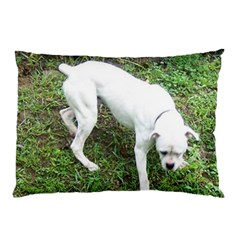 Boxer White Puppy Full Pillow Case (Two Sides)