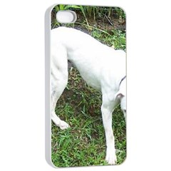Boxer White Puppy Full Apple iPhone 4/4s Seamless Case (White)