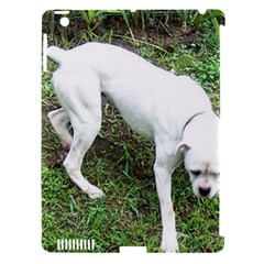 Boxer White Puppy Full Apple iPad 3/4 Hardshell Case (Compatible with Smart Cover)