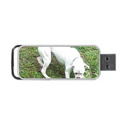 Boxer White Puppy Full Portable USB Flash (Two Sides)