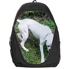 Boxer White Puppy Full Backpack Bag