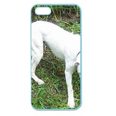 Boxer White Puppy Full Apple Seamless iPhone 5 Case (Color)