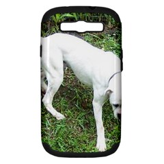 Boxer White Puppy Full Samsung Galaxy S III Hardshell Case (PC+Silicone)
