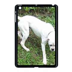 Boxer White Puppy Full Apple iPad Mini Case (Black)