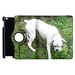Boxer White Puppy Full Apple iPad 3/4 Flip 360 Case