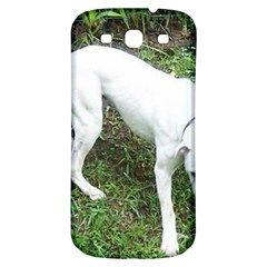 Boxer White Puppy Full Samsung Galaxy S3 S III Classic Hardshell Back Case