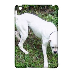 Boxer White Puppy Full Apple iPad Mini Hardshell Case (Compatible with Smart Cover)