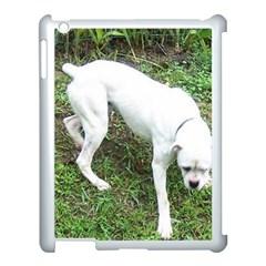 Boxer White Puppy Full Apple iPad 3/4 Case (White)