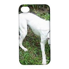 Boxer White Puppy Full Apple iPhone 4/4S Hardshell Case with Stand
