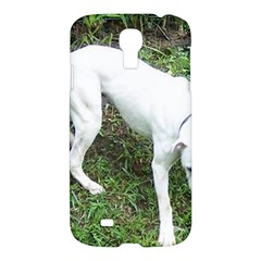 Boxer White Puppy Full Samsung Galaxy S4 I9500/I9505 Hardshell Case