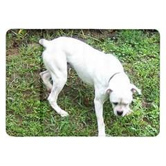 Boxer White Puppy Full Samsung Galaxy Tab 8.9  P7300 Flip Case