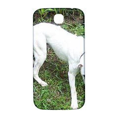 Boxer White Puppy Full Samsung Galaxy S4 I9500/I9505  Hardshell Back Case