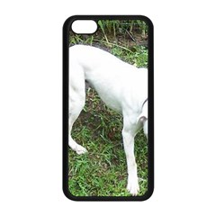Boxer White Puppy Full Apple iPhone 5C Seamless Case (Black)