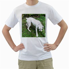Boxer White Puppy Full Men s T-Shirt (White)