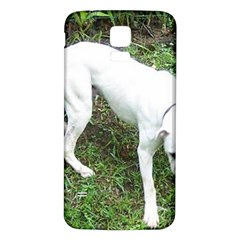 Boxer White Puppy Full Samsung Galaxy S5 Back Case (White)