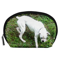 Boxer White Puppy Full Accessory Pouches (Large)