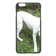 Boxer White Puppy Full Apple iPhone 6 Plus/6S Plus Black Enamel Case