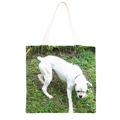 Boxer White Puppy Full Grocery Light Tote Bag