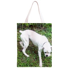 Boxer White Puppy Full Classic Light Tote Bag