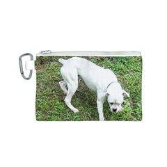 Boxer White Puppy Full Canvas Cosmetic Bag (S)