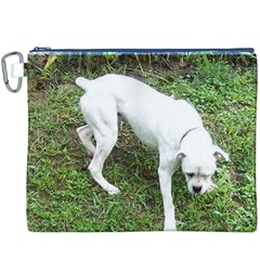 Boxer White Puppy Full Canvas Cosmetic Bag (XXXL)