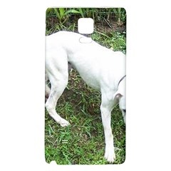 Boxer White Puppy Full Galaxy Note 4 Back Case
