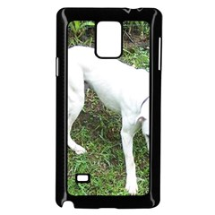Boxer White Puppy Full Samsung Galaxy Note 4 Case (Black)