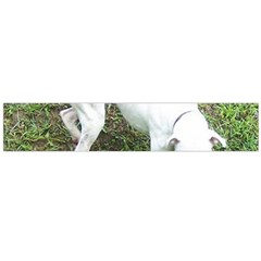 Boxer White Puppy Full Flano Scarf (Large)