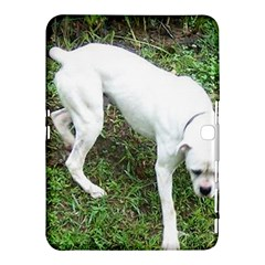 Boxer White Puppy Full Samsung Galaxy Tab 4 (10.1 ) Hardshell Case