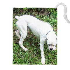 Boxer White Puppy Full Drawstring Pouches (XXL)