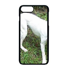 Boxer White Puppy Full Apple iPhone 7 Plus Seamless Case (Black)