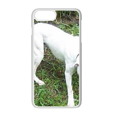 Boxer White Puppy Full Apple iPhone 7 Plus White Seamless Case