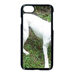 Boxer White Puppy Full Apple iPhone 7 Seamless Case (Black)