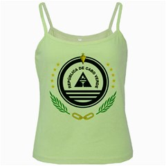 National Emblem of Cape Verde Green Spaghetti Tank