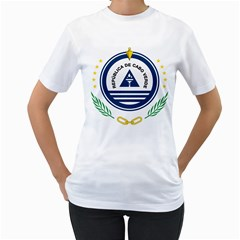 National Emblem of Cape Verde Women s T-Shirt (White) (Two Sided)