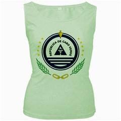 National Emblem of Cape Verde Women s Green Tank Top