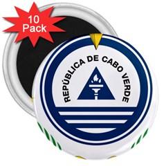 National Emblem of Cape Verde 3  Magnets (10 pack)