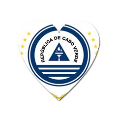 National Emblem of Cape Verde Heart Magnet
