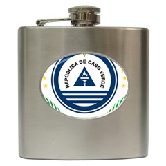 National Emblem of Cape Verde Hip Flask (6 oz)