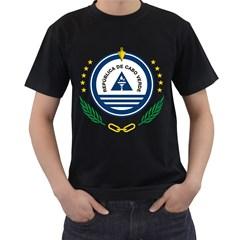 National Emblem of Cape Verde Men s T-Shirt (Black) (Two Sided)