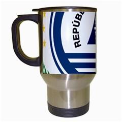 National Emblem of Cape Verde Travel Mugs (White)
