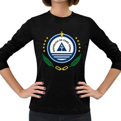 National Emblem of Cape Verde Women s Long Sleeve Dark T-Shirts