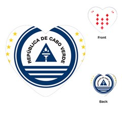 National Emblem of Cape Verde Playing Cards (Heart)