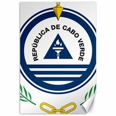 National Emblem of Cape Verde Canvas 12  x 18
