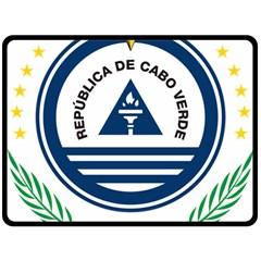 National Emblem of Cape Verde Fleece Blanket (Large)