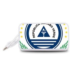 National Emblem of Cape Verde Portable Speaker (White)