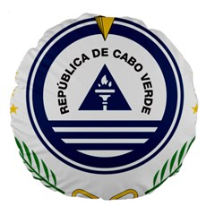 National Emblem of Cape Verde Large 18  Premium Round Cushions
