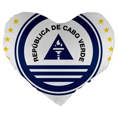 National Emblem of Cape Verde Large 19  Premium Heart Shape Cushions
